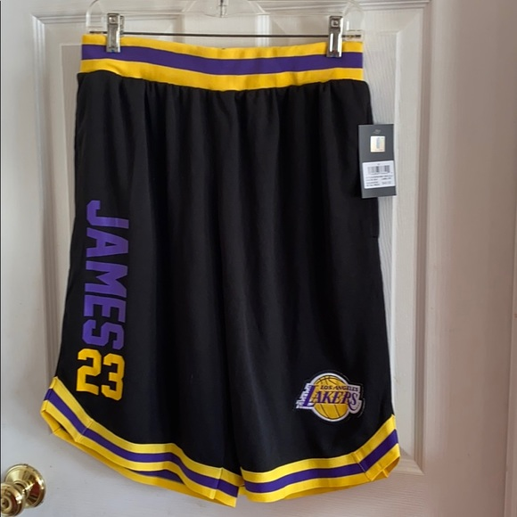 NBA Medium black basketball shorts.